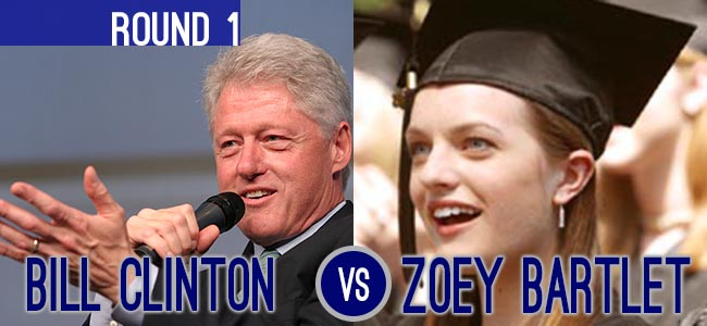 Bill Clinton Zoey Bartlet