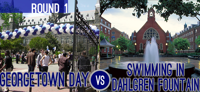 Georgetown Day Swimming in Dahlgren Fountain