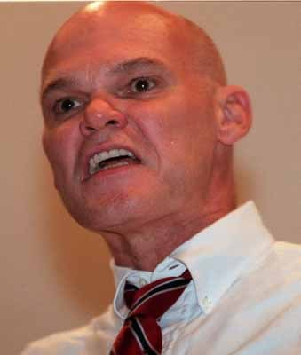 NEWS James Carville during a speech at UNLV on Tuesday photo by jeff scheid