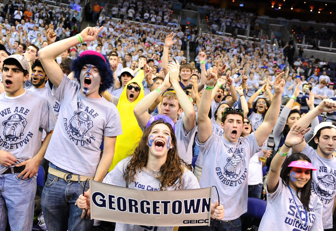 Georgetown-Syracuse men's basketball game.