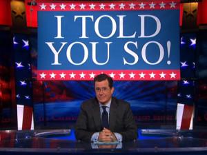 Colbert: 1 #CancelColbert: Go home.