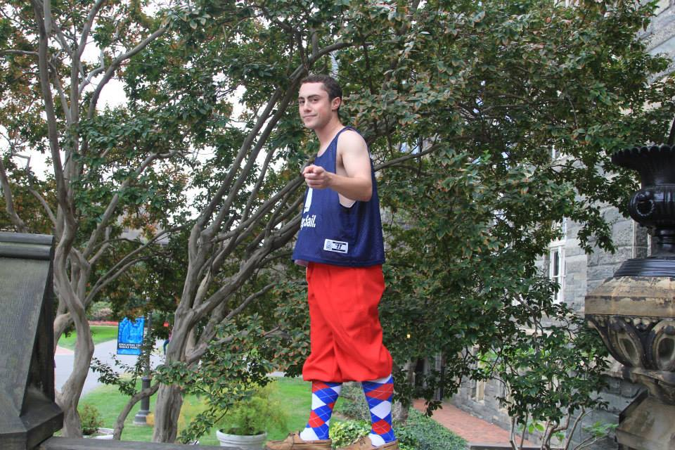 """Sometimes a guy's best accessory is a strong power point. Sometimes it's a pair of bold argyle socks and pants that scream """"No one picks out my clothing for me."""""""