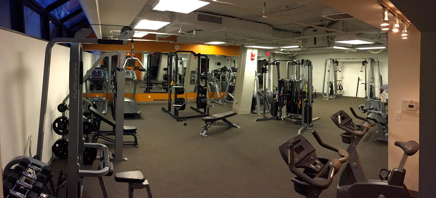 The main room of the boutique fitness center.