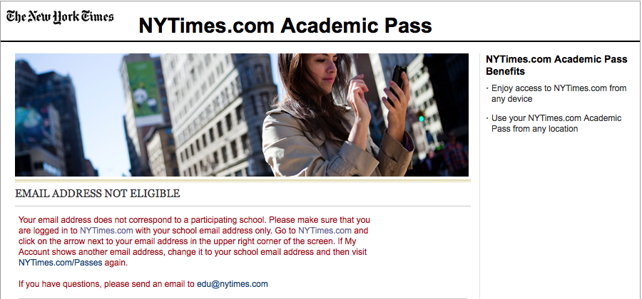 """""""You don't even go here."""" —NYT"""