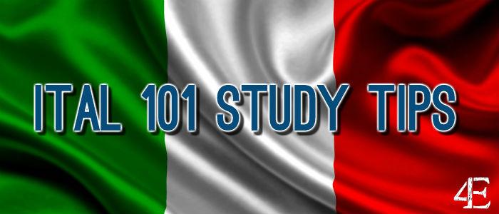 Banner - Italian 101