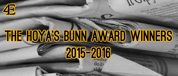 Bunn Award Winners